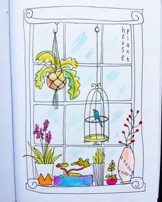 Day 24 House Plant #creativebug #cbdrawadaychallenge #cbdrawaday #lisacongdon…
