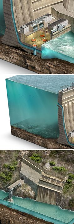 Schéma de Chirkey Dam. Le barrage Chirkey (Chirkeisk GES) est un barrage voûte sur la rivière Sulak au Daghestan, en Russie.