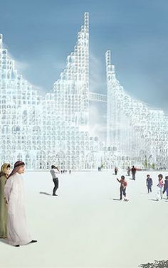 Japanese architect Sou Fujimoto has unveiled a concept for an intricate cluster of stacked arches #architecture