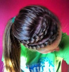 New Sport Hairstyles Volleyball Games French Braids Ideas - Coiffure 03 Volleyball Hairstyles, Sporty Hairstyles, Braided Hairstyles, Cool Hairstyles, Athletic Hairstyles, Cute Cheer Hairstyles, Braided Ponytail, Hairstyle Ideas, Pixie