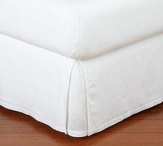 Linen Bed Skirt #potterybarn