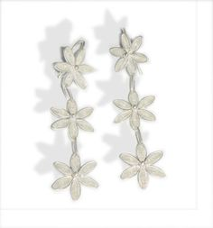 Dangling Filigree  flower Earrings