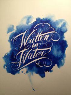 watercolor hand lettering -  Aquino Silva  #Calligraphy