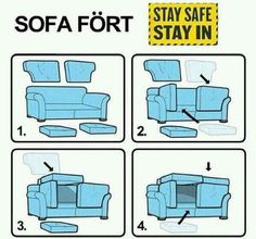 Make a proper sofa fort