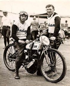 Old Indian Board Tracker - Vintage Motorcycle Racing