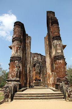 Polonnaruwa ruins in Sri Lanka