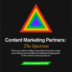 Want a quick reference guide to all of the various hues of content marketing partner? Look no further than this infographic. Content Marketing, Digital Marketing, Spectrum, Positivity, This Or That Questions, Blog, Infographics, Infographic, Blogging