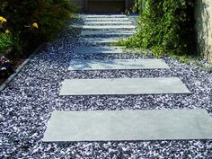 foot path pebbles and concrete tiles Dream Garden, Home And Garden, Concrete Tiles, Building A New Home, Garden Paths, Garden Inspiration, Stepping Stones, Outdoor Gardens, Planting Flowers