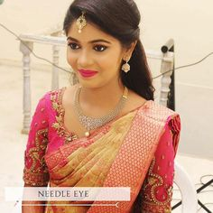 Our client Deepika looking her best PC and makeup by : Bridal Hairstyle Indian Wedding, South Indian Bride Hairstyle, Bridal Hair Buns, Indian Bridal Sarees, Bridal Hairdo, Bridal Silk Saree, Indian Wedding Hairstyles, Indian Bridal Fashion, Silk Sarees
