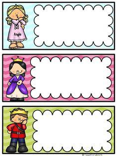 Badges for Kindergarten Children - Preschool Children Akctivitiys Preschool Names, School Frame, Classroom Labels, School Labels, Free Teaching Resources, School Decorations, Binder Covers, First Day Of School, Kindergarten