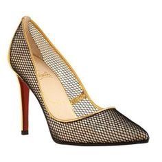 fishnet heels ~~Christian  Louboutin