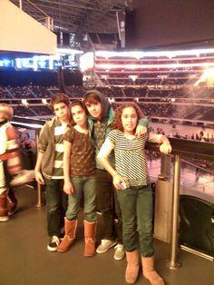 Kids at the Cowboy's Stadium