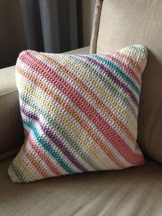 Diagonal stripe pillow