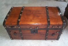 Antique trunks are awesome as coffee tables and bedside stands