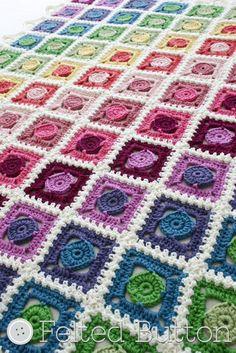 Crochet Pattern Circle Takes the Square Blanket von FeltedButton