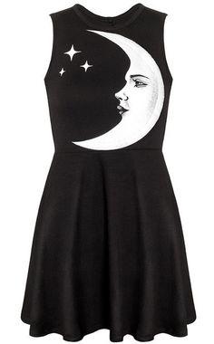 I'd rock this! Moonchild Skater Dress from Killstar! See it here >> www.beserk.com.au/killstar  #Killstar  #Alternative #SkaterDress