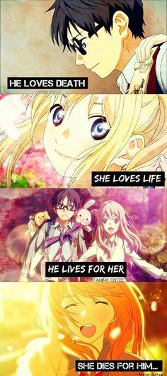 Your lie in April(Shugatsu WA kimi no uso) Sad Anime Quotes, Manga Quotes, Sad Quotes, Best Quotes, Love Quotes, Inspirational Quotes, Hikaru Nara, April Quotes, Image Citation