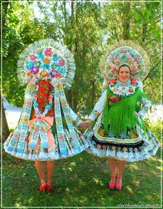 Wear of Slovaks from village Selenča, Vojvodina province, Northern Serbia. Effanbee Dolls, Enchanted Doll, Tribal Dress, Wedding Costumes, Folk Costume, Festival Wear, Fashion History, Traditional Dresses, Body Painting