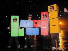 handgemachte kostüme lusttige ideen gruppen tetristeile spiel