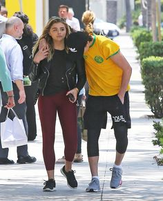 Pin for Later: Brooklyn Beckham and Chloë Grace Moretz Hold Hands During a Sunny Stroll in LA