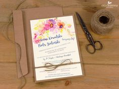 zaproszenia ślubne eko kwiaty