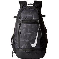 Nike Vapor Elite Bat Backpack Graphic (Black/Black/White) Backpack... ($60) ❤ liked on Polyvore featuring men's fashion, men's bags, men's backpacks and nike