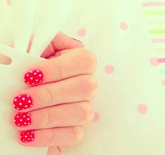 Simple classic pink with white polka-dots