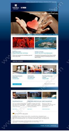 Company: Park Plaza Hotels Ltd Subject: Dear Guest, Treat someone special this Valentine's Day INBOXVISION is a global database and email gallery of 1.5 million B2C and B2B promotional emails and newsletter templates, providing email design ideas and email marketing intelligence http://www.inboxvision.com/blog
