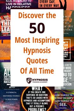 50 Of The Most Inspiring Hypnosis Quotes Of All Time From The Greatest Hypnotists & Top Thinkers Ems Quotes, Inspirational Quotes, Nlp Books, Hypnotherapy Training, Hypnosis Scripts, Learn Hypnosis, Nlp Techniques, Tarot, Therapy Quotes