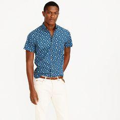 J.Crew+-+Short-sleeve+shirt+in+navy+floral