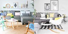 Decoração: Sofá cinza