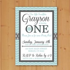 An adorable birthday party invitation for all age children's winter parties!