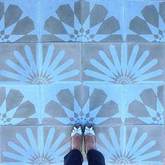 Kismet concrete tile design - Diary of a Tile Addict Concrete Tiles, Cement, Encaustic Tile, Spanish Revival, Tile Patterns, Tile Design, Geometry, Bathroom, Inspiration