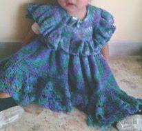 Vestido crochet (diseño: Astrid Domínguez)