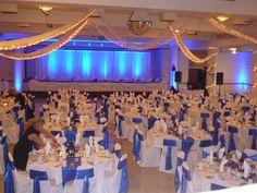 Madison Masonic Center - Blue uplighting