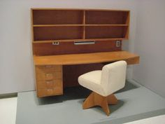 . Wharton Esherick. Desk designed for Pittsburgh's Frank House (1939) by Marcel Breuer and Bauhaus founder, Walter Gropius.