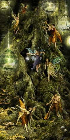 """moondancehooper: enchanted forest / Follow the Clairyon Call  """"Like legend and myth, magic fades when it is unused — hence all the old tales of elfin kingdoms moving further and further away from our world, or that magical beings require our faith, our belief in their existence, to survive.That is a lie. All they require is our recognition.""""  ~Charles de Lint"""
