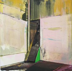 David Ralph 'Abandoned Staircase' 2014 oil on canvas 40 x 40 cm  from 'Commune' at Gallery 9, Sydney, May 2014