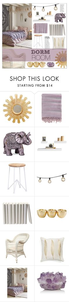 """""""Dorm Room"""" by anonymous1612 ❤ liked on Polyvore featuring interior, interiors, interior design, home, home decor, interior decorating, Worlds Away, Surya, Boho Boutique and Dot & Bo"""