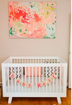 Abstract Painting above crib