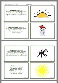 Sång Learn Swedish, Swedish Language, Montessori, Preschool, Education, Comics, Learning, Insects, Musik