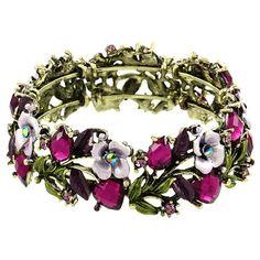 Vintage Floral Bangle in Purple