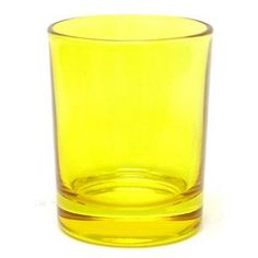 Yellow Glass Votive Candle Holder