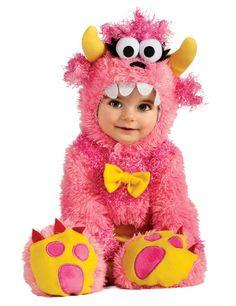 Süßes Monster Babykostüm pink