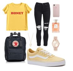 """Untitled #1"" by nastyabiebz on Polyvore featuring MIEL, AMIRI, Vans, Fjällräven, Michael Kors and Amber Sceats"