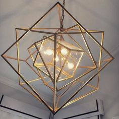 Cubist Medium Chandelier designed by Kelly Wearstler. Concept Models Architecture, House Shutters, Toy House, Cube Design, Circa Lighting, Abstract Sculpture, Geometric Art, Light Art, Lighting Design
