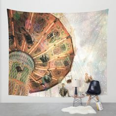 A Carnival In the Sky III Wall Tapestry by Jenndalyn | Society6