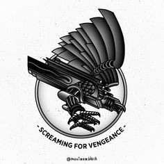 SCREAMING FOR VENGEANCE< Judas Priest illustration by MaximumBlack