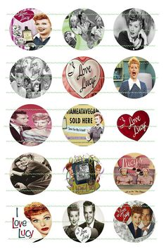 Sample I Love Lucy Precut Bottle Cap Images One by LibbysCharmingDesign