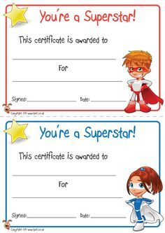 FREE printable superhero certificates for your super kids. Preschool Certificates, Free Printable Certificates, Award Certificates, Certificate Templates, Superhero Classroom, Primary Classroom, Classroom Themes, Award Template, Star Students